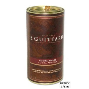 E Guittard Cocoa Powder, Unsweetened Rouge Red Dutch Process Cocoa, Two (2) 8oz Cans by Guittard...