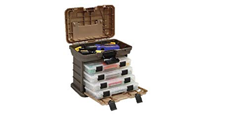 Plano Molding 135430 Stow N' Go Pro Rack with 4 #23500s Prolatch Organizers, in stock 2/9, $13.61