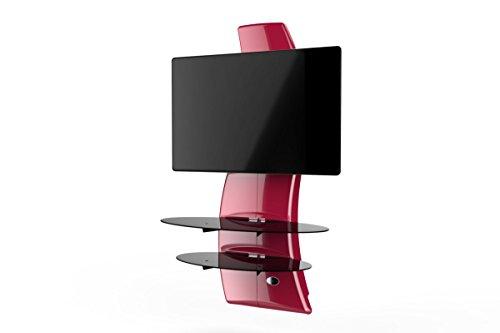 Meliconi Ghost Design 2000 Support Mural pour TV Plasma/LCD Rouge Métallisé