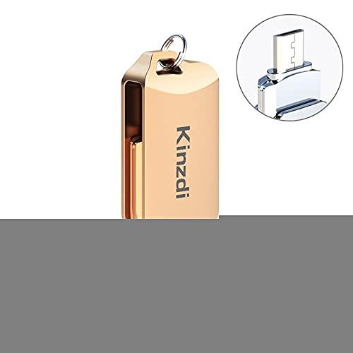 32 GB USB 2.0 teléfono Android informáticos y de Doble Uso Rotary Metal del Disco de U V8 USB Flash Drive (Color : Rose Gold)