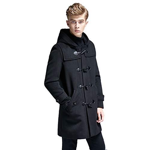 Jackets Wiatrówka dla dorosłych męska odzież sportowa na zewnątrz odzież męska wiosna zima ubrania wełniany płaszcz odzież codzienna wygodne ubrania ulubione ubrania męskie (kolor: Czarny, rozmiar: 5XL)