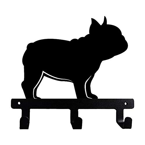 French Bulldog Frenchie Wall Mounted Hook for Towel Bathroom Clothes Kitchen Keys Purses Side View Portrait