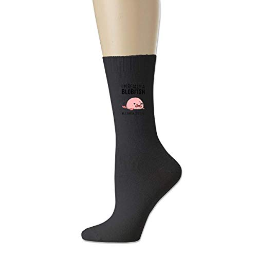 wonzhrui Negro I'm Really A Blobfish In A Human Costume Calcetines deportivos de algodón unisex Calcetines tobilleros casuales