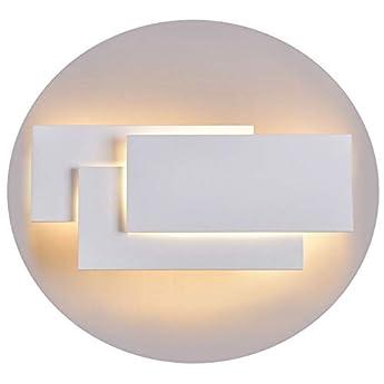 Foto di Ralbay Lampada da Parete Led 24W IP20 Applique da Parete per Interno Luce Bianca Calda Moderna Elegante per Scale Notte Corridoio Muro Soggiorno per Casa Hotel Ristorante(2700K~3200K)