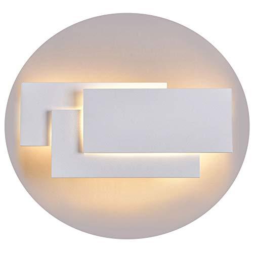 Ralbay Lampada da Parete Led 24W IP20 Applique da Parete per Interno Luce Bianca Calda Moderna Elegante per Scale Notte Corridoio Muro Soggiorno per Casa Hotel Ristorante(2700K~3200K)