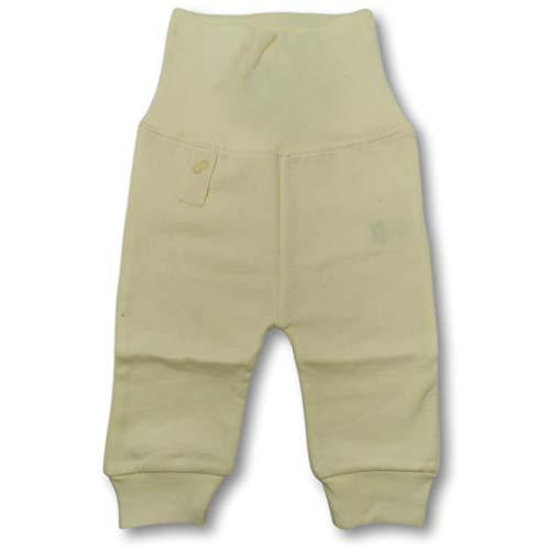 smoob Lynn Pants - Pantalones para bebé para niño y niña (100% algodón, con cintura alta) amarillo 74 cm