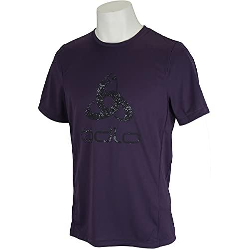 Odlo Element Light Prin T-Shirt à Manches Courtes pour Homme 3XL Nightshade – imprimé placé FW19.
