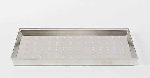 Pentole Agnelli COAL49/3F40 Teglia Rettangolare Forata, Lega Alluminio 3003, Argento, 40 x 30 cm
