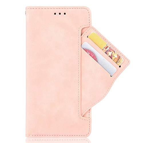 LINER Cover per Xiaomi Redmi Note 10T 5G, Flip Caso Custodia Pelle PU con [Funzione Stand] [Slot Rimovibile] [Magnetica] [Silicone TPU] per Xiaomi Redmi Note 10T 5G, Rosa