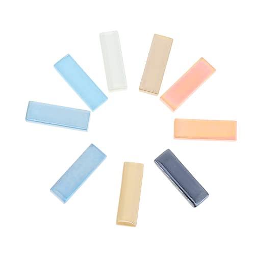 IMIKEYA Azulejos de Mosaico de Vidrio Coloridos Piezas de Cristal DIY Azulejos de Espejo Azulejos Decorativos de Mosaico para La Decoración del Hogar Manualidades Fabricación de Joyas