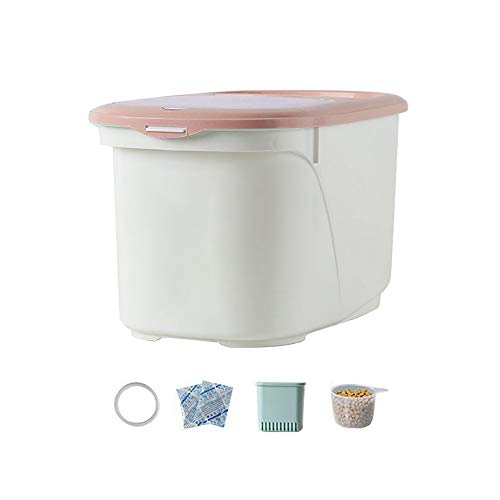 Review Of Pet Food Container for Dogs and Cats Storage Bin Dry Animal Box Feed,with Plastic Top Lid and Sealing Rubber Ring