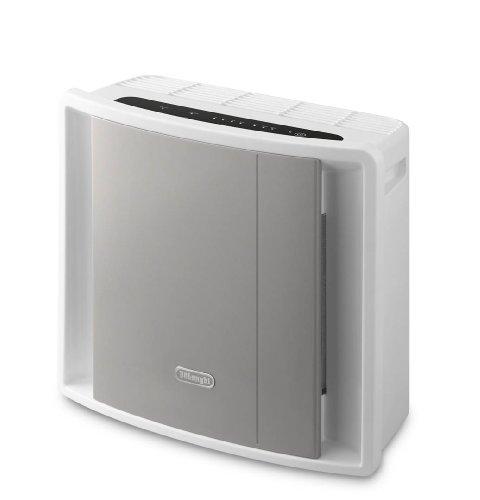 De'Longhi AC 100 AC100-Purificador (Panel de Control táctil, filtración, ionizador, Tres velocidades de Ventilador, para Habitaciones m 2), 40 W, Plástico, Gris