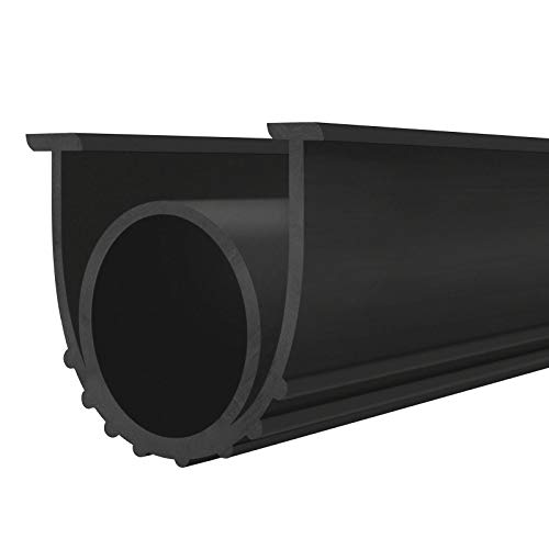Garage Door Seals Bottom Rubber Weather Stripping Kit Seal Strip Replacement Heavy-Duty U Shape + O Ring Universal Weatherproof Threshold Buffering Sealing. (20 Ft)