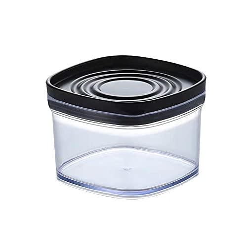 TEBX Recipiente de Almacenamiento de Alimentos de 250/500/850 / 1380ML, Caja de plástico para Mantener Frescos, Fideos, Tanque multigrano(250ml-black)