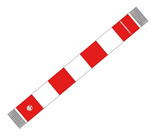 Flaggenfritze Schal 1. FC Kaiserslautern Tradition - 15 x 140 cm, gratis Aufkleber