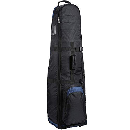 April Story Golf Club Travel Bag Foldable Golf Bag Portable Golf Travel Bag with Wheel Lightweight Oxford Cloth Golf Travel Bag Waterproof Golf Air Carrier Package