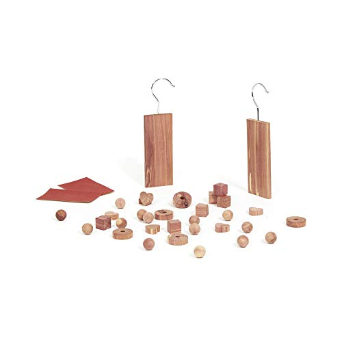 Compactor Set of 34 Moth Repellent Natural Cedar Blocks, For Drawers and Wardrobes, Brown, CED237