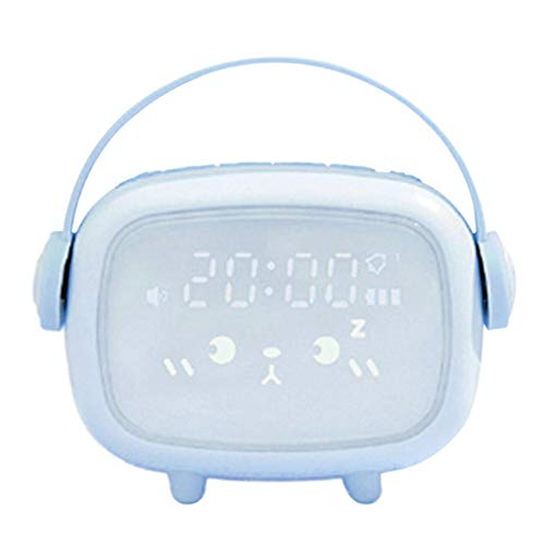 niumanery Kids Cute Digital Alarm Clock with Night Light Table Wake Up Clocks Home Decor Sky Blue