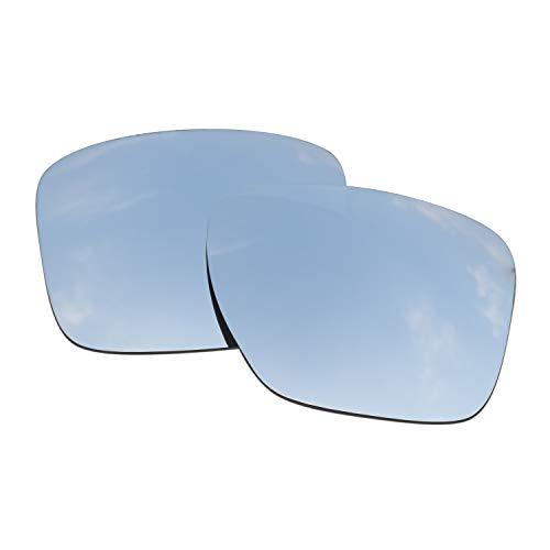 SOODASE Para Oakley Sliver XL Gafas de sol Plata Lentes de repuesto polarizadas