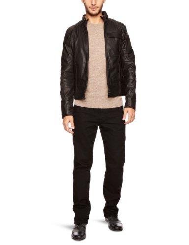 G-Star Herren Jacke Mfd Leather JKT - 82568, Gr. 50/52 (L), Schwarz (Black 990)