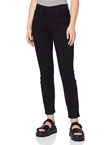 Levi's 724 High Rise Straight Jeans, Black Sheep, 33W / 32L Donna