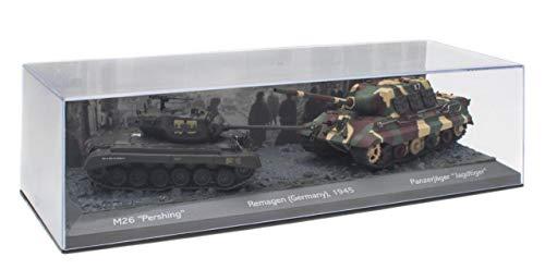 OPO 10 - Set di 2 Carri Armati Militari 1/72: M26 Pershing vs Panzerjäger Jagdtiger (T903)