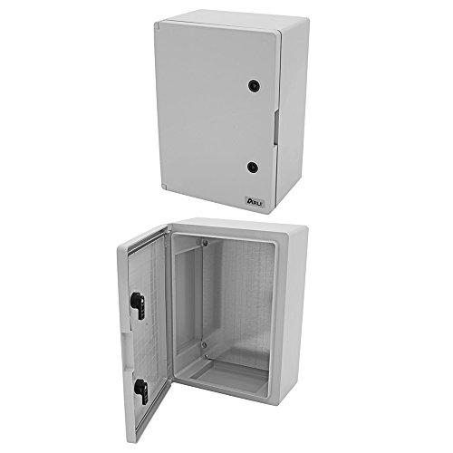 Schaltschrank IP65 Industriegehäuse 400 x 500 x 245 mm verzinkter Montageplatte Verriegelung Tür mit umlaufender Dichtung Gehäuse Leergehäuse ABS Kunststoff leer Schrank ARLI 40 x 50 x 24,5 cm