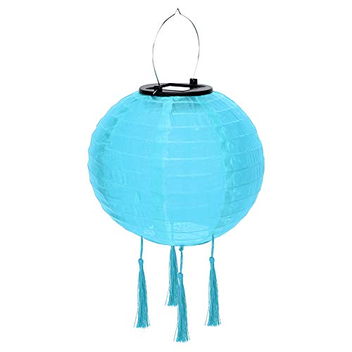 Paper Lanterns,Chinese Japanese Colorful Hanging Decorations Ball Lantern Lamps 20cm Solar LED Lantern Waterproof Hanging Tassel Light Outdoor Chandelier for Home Decor,Parties,and Weddings