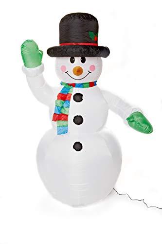 Heitmann DECO - Figura de muñeco de nieve hinchable, 180 cm, color blanco