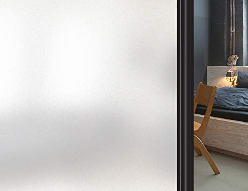 HIDBEA Frosted Privacy Static Cling Window Film
