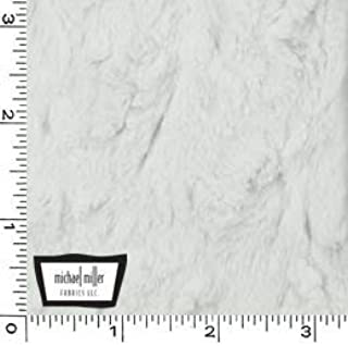 Snuggle Bella Furry Plush Fabric- Pure White Minky from Michael Miller