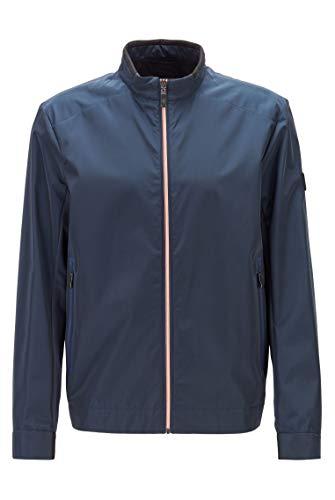 BOSS Herren J Laser Regular-Fit Jacke aus Canvas mit Reißverschluss