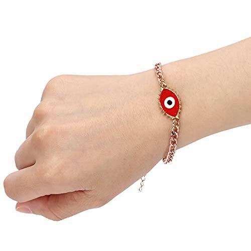 Joyas para damas, conveniente pulsera retráctil para compromisos para citas para playas para aulas(rojo)