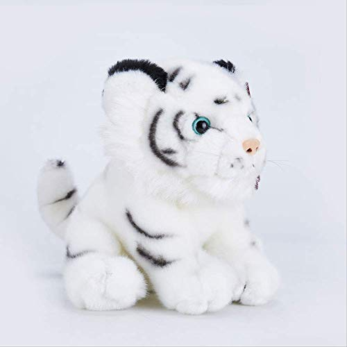 Zacht speelgoed,Simulatie Kleine Tijger Pop Knuffel Schattige Witte Tijger Pop Ragdoll Dier Decoratie Auto Kind Cadeau 20 cm Zittende witte tijger