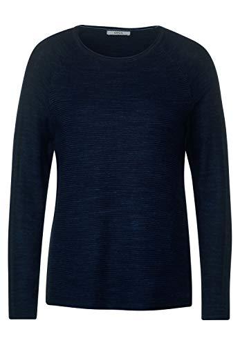 Cecil Damen B301275 Pullover, deep Blue Heather Melange, Large