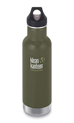 Klean Kanteen Classic Vacuum Gourde isotherme Fresh Pine (mat) avec bouchon Loop Cap 592 ml