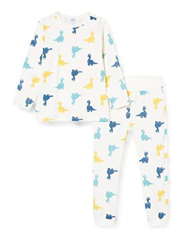 Sanetta Jungen lang beige Baby- und Kleinkind-Schlafanzüge, White Pebble, 104