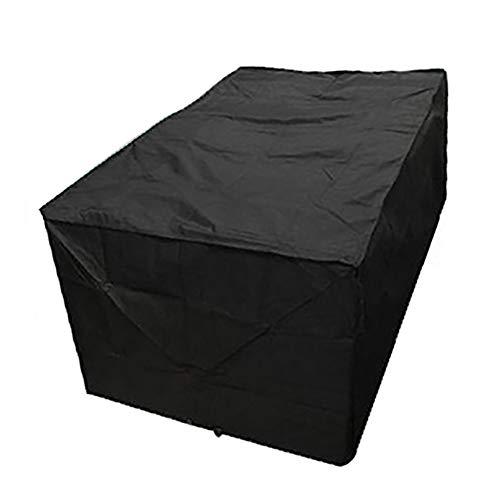 N\A L-förmige Gartenmöbelabdeckungen, Terrassenmöbel-Polyesterabdeckungen Mit Silberbeschichtung, UV-wasserdichter Winddichter Sand Winddichte Außentischabdeckung (schwarz)