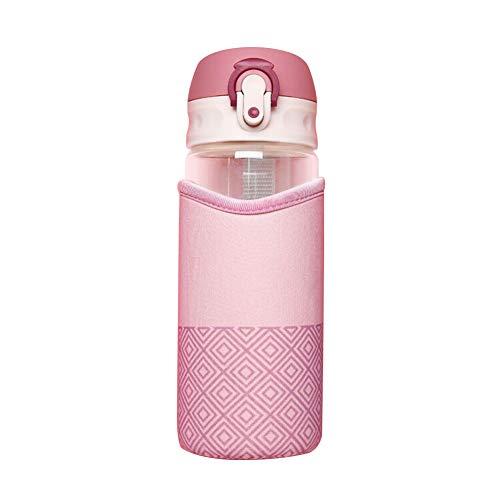 WeiMay 1 taza de cristal de moda con protección del medio ambiente, color rosa, 500 ml, tamaño: 22 cm x 6,5 cm