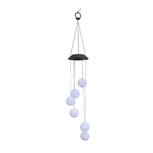 LED Wind, Solar Powered Crystal Ball Lights, Hanging Waterproof Color Changing Wind Lamps for Outdoor Indoor Garden Holiday