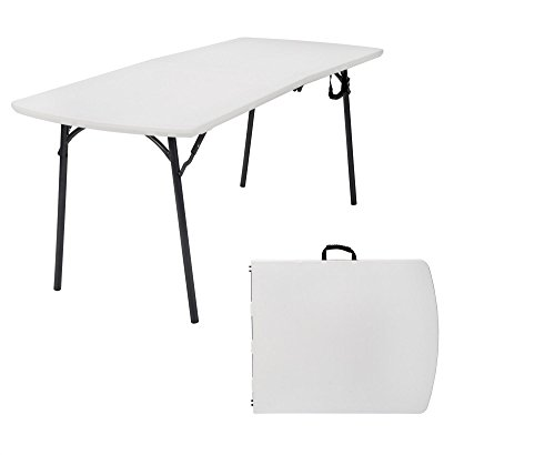 "Cosco Products Diamond Series 300 lb. Weight Capacity Folding Table, 6' X 30"", White"
