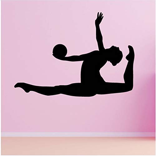 Gimnasia Rítmica Ball Leap Pegatinas De Pared Niños Y Niñas Calcomanías Deportivas De Pared Dormitorio Hogar Sala De Estar Decoración Decoración De Gimnasio 60X42Cm