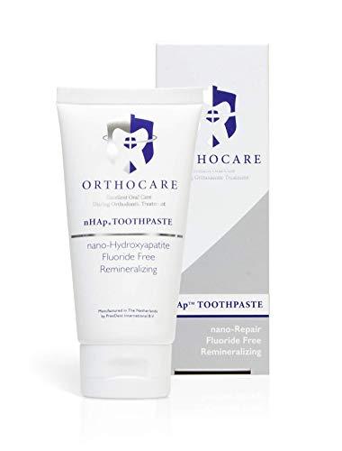 OrthoCare nHAp Zahnpasta, begleitende Pflege bei Zahnspangen und Brackets, verhindert weiße Flecken und Demineralisierung des Zahnschmelzes