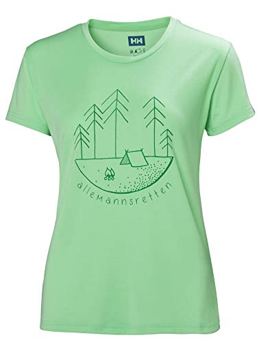 Helly Hansen Skog Graphic - T-Shirt Manches Courtes Femme - Turquoise Modèle S 2019 Tshirt Manches Courtes