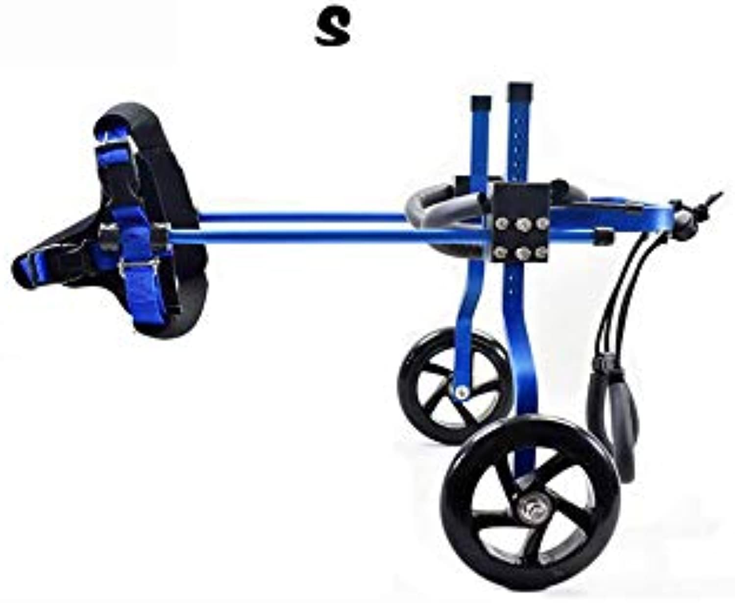 PLDDY Pet Bag 2wheel Pet Bicycle, Adjustable Dog Wheelchair, Scooter, Disabled Dog, Auxiliary, Leg Rehabilitation, Rear Support Wheelchair Red, bluee Pet Bicycles (color   bluee, Size   S)
