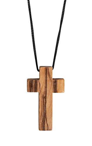 Christliche Geschenkideen Schlichte Halskette Kreuz Holzkreuz/Olivenholz aus Bethlehem/Unikat