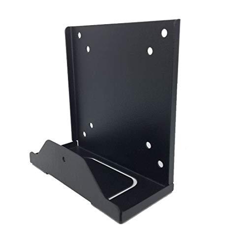 Soporte de pared ajustable para dispositivos pequeños y estrechos como cajas de cables, reproductores de medios digitales, enrutadores, dispositivos multimedia de transmisión y más, metal negro
