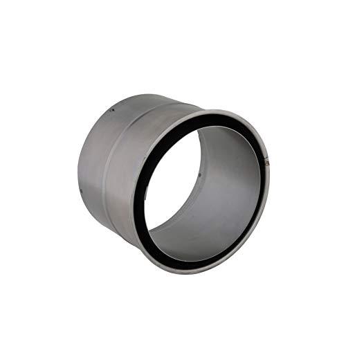 Ribelli Wandfutter doppelt, feueraluminierter (FAL) Stahl, Doppelwandfutter, für Ofenrohre mit einer Stärke von 0,6 oder 2 mm, geprüft nach EN 1856-2, (für Stärke 2 mm, Ø 150 mm)