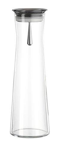 Bohemia Cristal 093 006'Indis, Caraffa in Vetro con Tappo salvagoccia, 1100 ml, Grigio (Smoke)