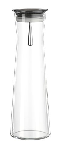 Bohemia Cristal 093 006 105 SIMAX Karaffe ca. 1100 ml aus hitzebeständigem Borosilikatglas mit praktischem Ausgießer aus Kunststoff smoke